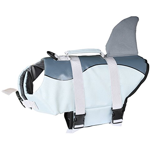 DaiShuGuaiGuai Schwimmweste Hund/Schwimmhilfe für Hunde/Hundeschwimmweste (Grau) (M)