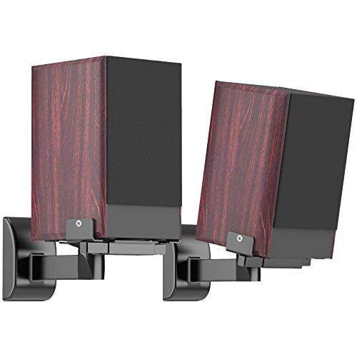 1home 2 Stück (1 Paar) Lautsprecher Wandhalter Audio Speaker Halter verstellbar, neigbar/schwenkbar, hält bis 15 kg (33lbs)