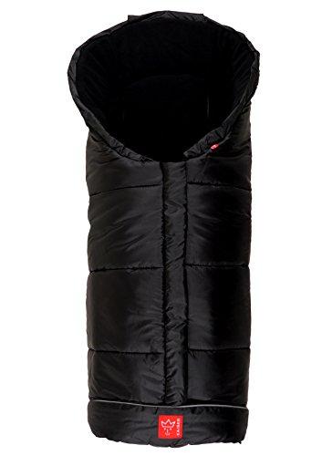 Kaiser Naturfelle 6570825 - Fußsack 'Iglu Thermo Fleece', Farbe: schwarz