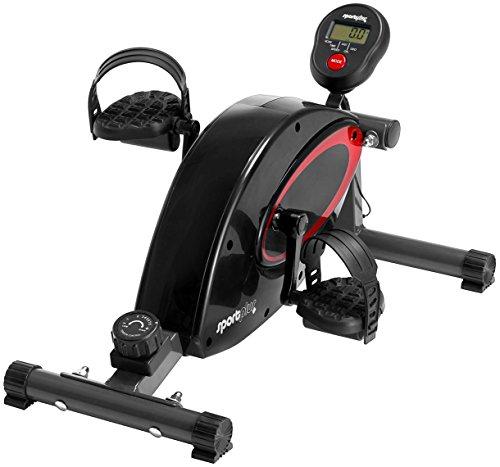 SportPlus Mini Heimtrainer inkl. Trainingscomputer, Hochwertiges flüsterleises Magnetbremssystem mit Riemenantrieb, 8-facher Widerstand, Minibike SP-HT-0001, Sicherheit geprüft