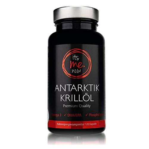itsme.now Antarktik Krillöl Omega-3 Fettsäuren Kapseln hochdosiert 100% SuperbaTM Krillöl mit Astaxanthin & Phospholipiden - reich an EPA DHA I MSC-zertifizierter Wildfang 120Stk Softgel Licaps