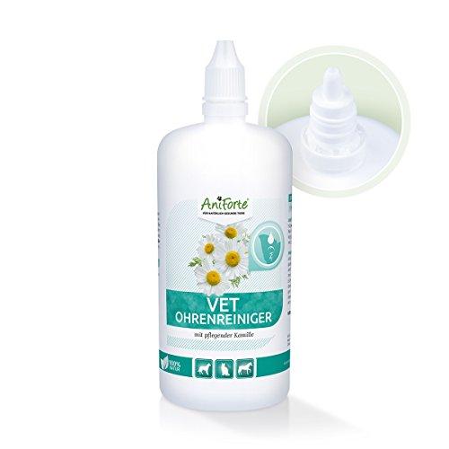 AniForte Ohrenreiniger Kamille 250ml für Hunde, Katzen, Pferde und Nager, Schonende Pflege und Reinigung ohne Alokohol