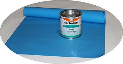Jeha Pool Reparaturset mit Kleber 290 gr. PVC Kleber Folien Reparaturset Poolflicken + Kleber Schwimmbad Verschiedene Größen (35 x 70 cm)