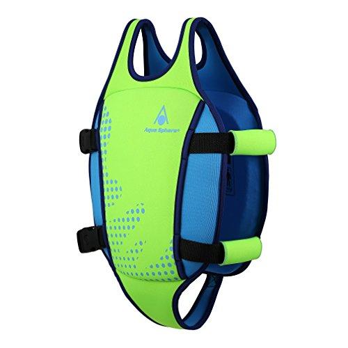 MP Michael Phelps Kinder Swim Float M Fluorescent Green/Light Blue