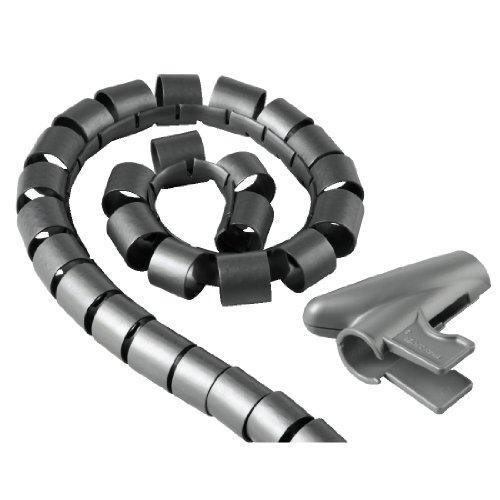 """Hama Kabelschlauch """"Easy Cover"""" (Spiralschlauch mit Einfädelhilfe, Länge 2,5 m , Durchmesser 20 mm) silber"""