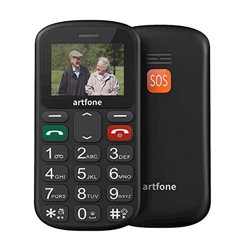 artfone GSM Mobiltelefon,Seniorenhandy ohne vertrag Großtastenhandy mit DUAL-SIM Mobiltelefon mit Notruftaste Funktionstelefon (Vier Frequenzen: 850/900/1800/1900 MHz)