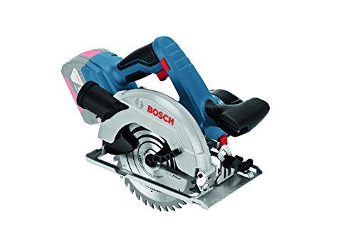 Bosch Professional Akku-Kreissäge GKS 18 V-57 G, Ohne Akku, Kreissägeblatt, Parallelanschlag, Absaugadapter, L-BOXX, Sägeblatt-Ø-: 165 mm, 18 Volt, 06016A2101