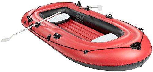 Speeron Boot: 4-Kammer-Schlauchboot mit Pumpe & Paddeln, für 2-3 Personen (Gummiboot)