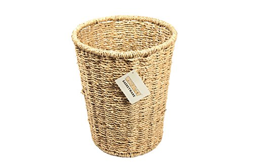 Woodluv Runder Papierkorb aus Seegras