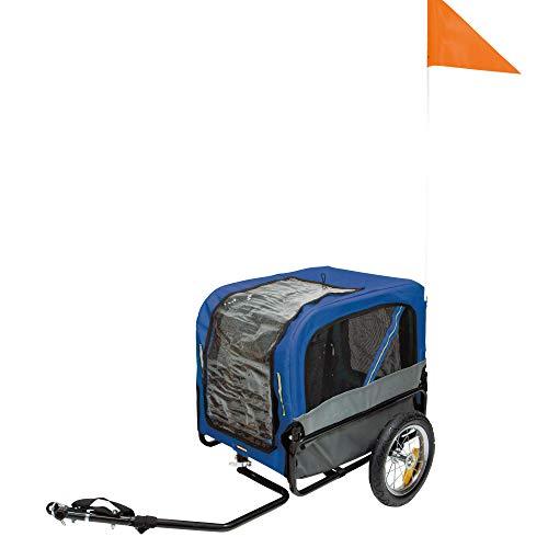ConDeDi GmbH Fahrradanhänger Pet Traveler Gr. S - 115 x 59 x 86 cm Farbe Blau sehr handlich und leicht enthält einen Regenschutz