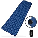 Outdoro aufblasbare Luftmatratze 2019 - Ultra-leicht, kleines Packmaß & faltbar - ideal für Camping & Outdoor Isomatte (blau)