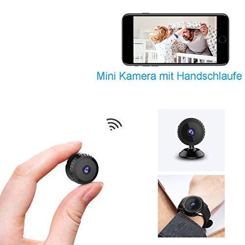 Mini Kamera,TODAYI Klein Akku Überwachungskamera Aussen Innen WLAN Handy mit Bewegungserkennung und Speicher Aufzeichnung Mikro WiFi IP Kamera für iPhone/Android Phone,Nachtsicht Wireless Nanny Cam