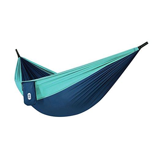 Zenph Camping Hängematte, 660 Lbs Tragkraft, Atmungsaktiver, Fallschirm Nylon 106'(L) x 55'(W), Ultraleichte, für Outdoor Camping, Garten und Strand, Hellblau