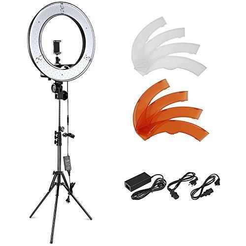 Neewer Kamera-Foto-Video-Blitz-Kit: 18 Zoll / 48 Zentimeter Außen 55W 5500K dimmbare LED-Ringlicht, Licht-Standplatz, Bluetooth-Empfänger für Smartphone, YouTube, Vine Self-Portrait der Videoaufnahme