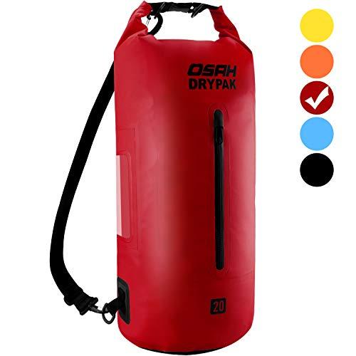 Dry Bag Wasserdichter Packsack 5L 10L 15L 20L 30L Wasserdichte Tasche Sack Beutel Lang Schulter Verstellbarer Schultergurt für Kajak Boot Angeln Rafting Camping Schwimmen Wassersport Treiben