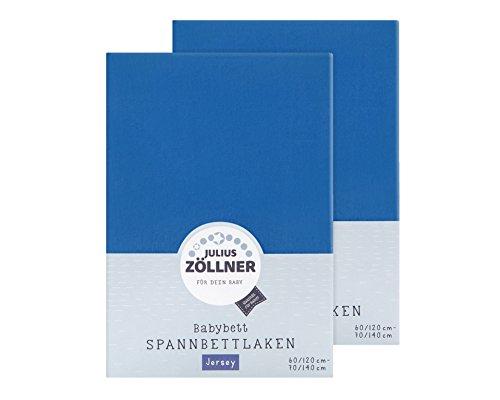 Julius Zöllner Spannbetttuch für das Kinderbett, Größe: 60x120 / 70x140 cm, in verschiedenen Farben