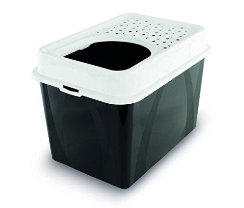 Rotho Katzentoilette Berty mit Top-Eingang - einfach zu reinigendes Katzenklo - aus Kunststoff(Plastik (PP) - Größe (LxBxH) 55.5 x 40 x 38.7 cm