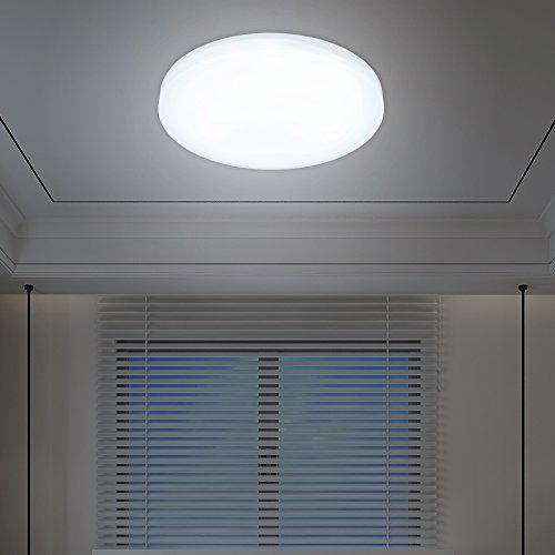 VINGO 12W LED Deckenleuchte Deckenlampen Weiß Wohnzimmerlampe Badleuchte Deckenbeleuchtung Wohnzimmer Smart Beleuchtung rund Wand-Deckenleuchte Markantes Design Lampe