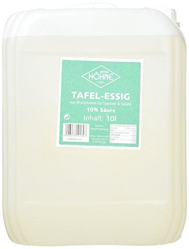 Höhne Tafelessig, 10 % Säure, 1er Pack (1 x 10 l Packung)