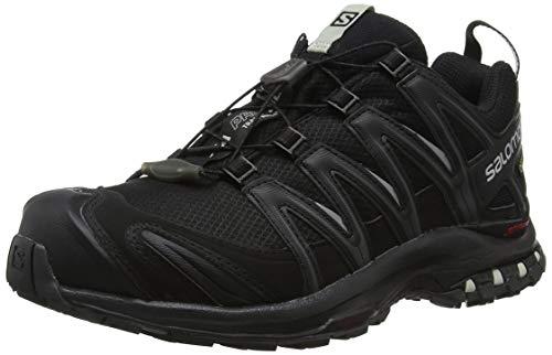 Salomon Damen XA Pro 3D GTX, Trailrunning-Schuhe, Wasserdicht, Schwarz (Black/Black/Mineral Grey), Größe: 41 1/3