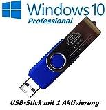 Microsoft Windows 10 Pro Professional USB Stick bootfähig 32 Bit / 64 Bit - Vollversion - Lizenz KEY - Original Lizenzschlüssel - 1 Aktivierung - DEUTSCH