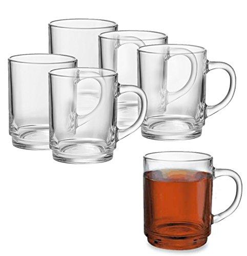 6er oder 12er Teeglas- Set mit oder ohne Tassenbaum für Kalt - und Heißgetränke, Grog- Glühweingläser, Hitzebeständig, Spülmaschinengeeignet, Teebecher, Kaffeebecher, Cappuccino, Milchkaffee, Tee Glas Geschirr (12er Set)