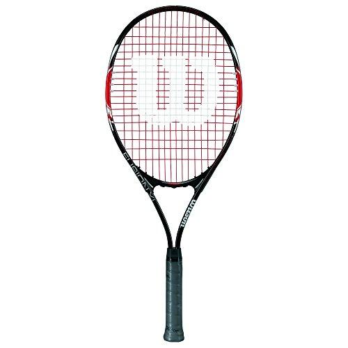 Wilson Damen/Herren-Tennisschläger, Anfänger, Fusion XL, Griffstärke 3, schwarz/rot, WRT30070U3
