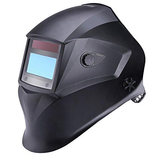 Schweißhelm, Tacklife PAH01D Automatik Schweißhelm mit 4 Sensoren, Optische Klasse: 1/1/1/1, Solar Schweißmaske (Schutzstufen 9-13) für alle Schweißanwendungen, Inkl.6 austauschbare Objektive