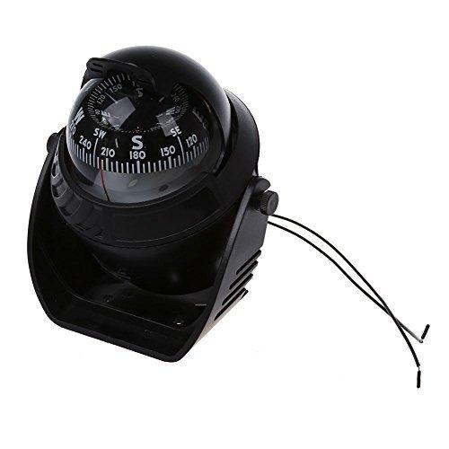 TOOGOO(R) Gross K LED Kugelkompass Bootskompass Schiffskompass Kompass Kompass Navigation Schwarz