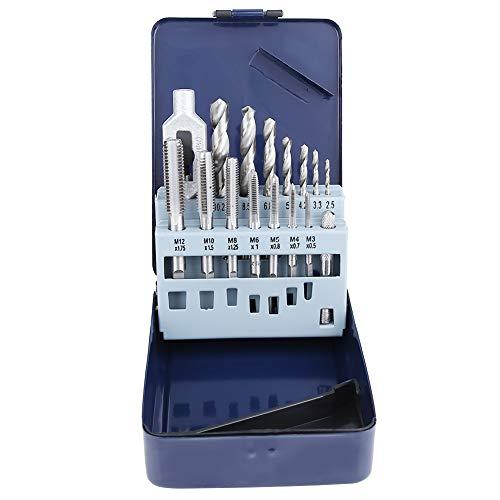 15 stücke Stahl Schraubenschlüssel Gewindebohrer Spiralbohrer Set Metallbearbeitung DIY Werkzeuge