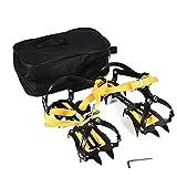 VGEBY 1 Paar Eisgriffe, 10 Zähne Anti Slip Stahl Snow Traction Cleats Steigeisen mit Sechskantschlüssel, Paket Tasche für Klettern