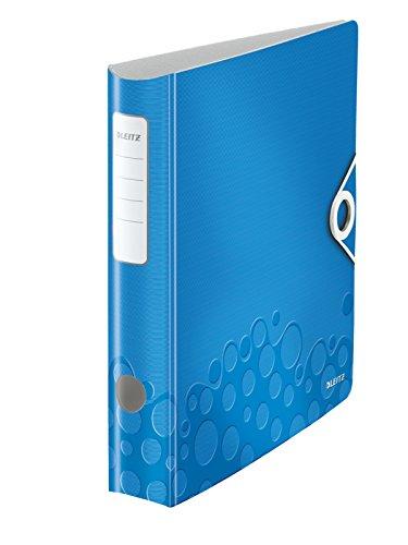 Leitz Qualitäts-Ordner, Wolkenmarmor-Papier, A4, 8 cm Rückenbreite, Schwarz, 3er-Pack, 310305095