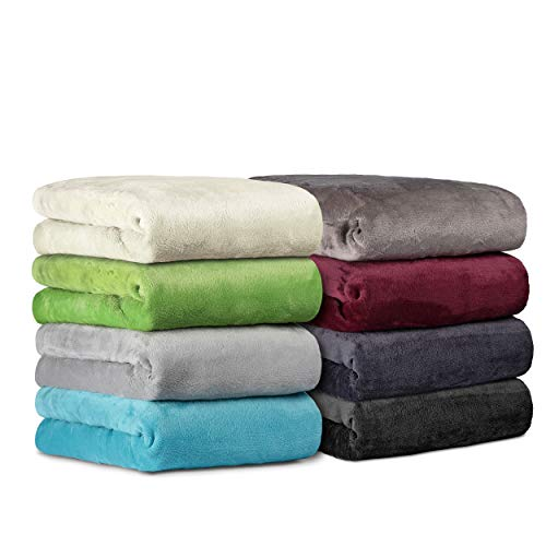 BaSaTex Cashmere Touch Spannbettlaken Spannbetttuch ähnlich Nicky, Teddy, Corals Fleece in 5 Größen und 8 Farben 180x200 bis 200x200 cm Grau