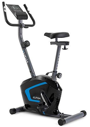 Heimtrainer RX300 Fitnessbike Ergometer mit Trainingscomputer, Pulssensoren und 7 kg Schwungrad, Smartphone Halterung, bis 125 kg (Schwarz)