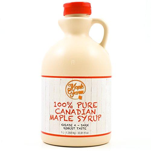 Kanadischer Ahornsirup Grad A (Dark, Robust taste) - 1 Liter (1,350 Kg) – Original Maple Syrup - Kanadischer maple