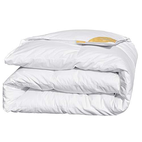 puredown Deluxe Bettdecke 4 Jahreszeiten 60% Daunen, 40% Feder, 135x200cm Daunendecke, Gänseflaum Bettwäsche, Atmungsaktiv Wärmeausgleichend Öko-Tex