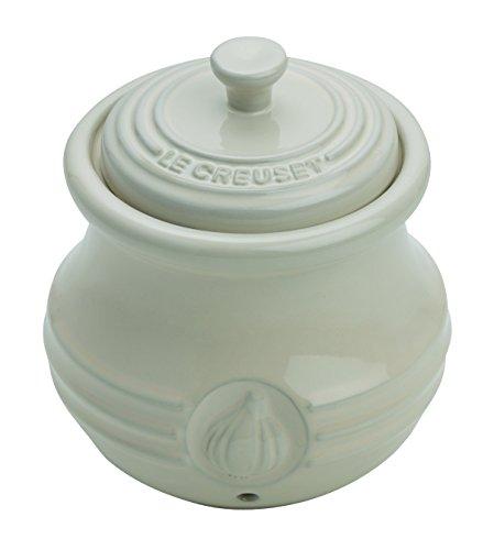 Le Creuset Steinzeug Knoblauchbehälter, mandel