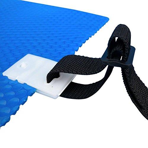 Linxor  Set mit 8 Schlaufenbändern, mit Krokodilklemmen für jede Art von Solarabdeckplane Aufroller – EG-Norm