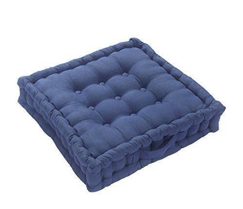 Homescapes extrahohes Sitzkissen orthopädisch mit Tragegriff Sitzerhöhung Aufstehhilfe ca. 50 x 50 x 10 cm, Bezug aus Baumwolle, 100% Polyester Füllung, uni marineblau