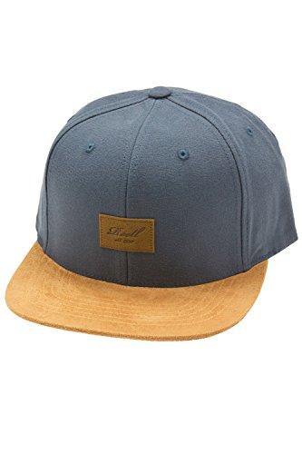 Herren Kappe REELL Suede Cap, Charcoal, One Size