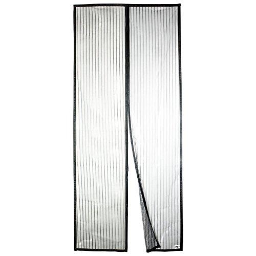 APALUS Magnet Fliegengitter Tür Insektenschutz 90x210 cm / 100x220 cm, Der Magnetvorhang ist Ideal für die Balkontür, Kellertür, Terrassentür, Kinderleichte Klebemontage Ganz Ohne Bohren