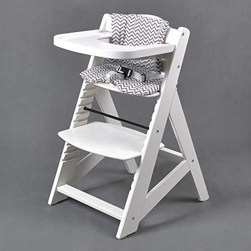 Treppenhochstuhl Babyhochstuhl Kinderhochstuhl Kindertreppenhochstuhl Babystuhl Hochstuhl HC6551-WEISS