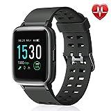 Letsfit Smartwatch 1,3 Zoll Touchscreen Fitness Armband mit Pulsmesser Fitness Tracker 14 Verschiedene Sportmodi 5ATM wasserdicht Sport Uhr Smart Uhr Schlafmonitor SMS Beachten für Android und iOS