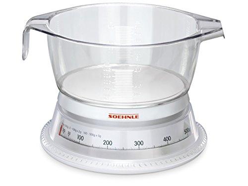 Soehnle 65418 Analoge Küchenwaage Vario weiß/glasklar