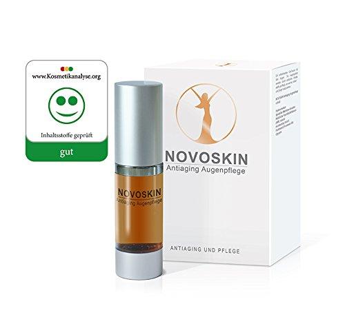 Augenpflege Serum von NOVOSKIN - NOVOSKIN Antiaging Augenpflege Serum mit Hyaluronsäure, speziellem Matrikine Komplex, Panthenol (Provitamin B5), natürlichen Feuchthaltefaktoren und Glycerin - 15ml