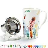 TEANAGOO FA-M01 teebecher mit Ei und Deckel, Mehrfarbig und dekor