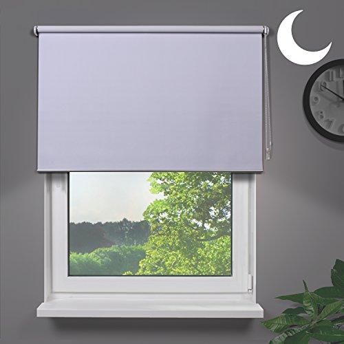 Fensterdecor Fertig Verdunkelungsrollo blickdicht- abdunkelnd / Weiß 160 x 230 cm (BxH)