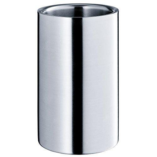 WMF Weinkühler, Sektkühler Manhattan, Edelstahl Cromargan mattiert, doppelwandig, H 19,5cm, Ø 12cm