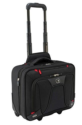 Wenger 600664 Transfer erweiterbar auf Rädern Laptop Aktentasche, gepolsterte Laptopfach mit iPad/Tablet / eReader Tasche in schwarz {18 Liter}