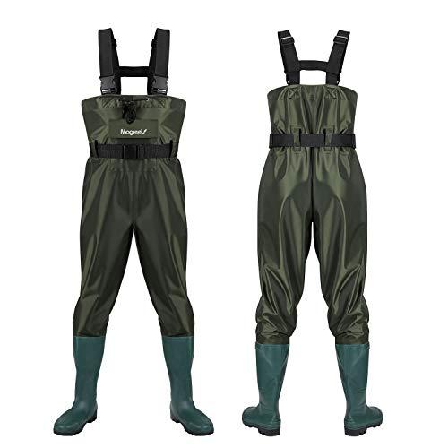 Magreel Wathose Anglerhose Hose mit Stiefel Watstiefel Watt Fisch Teich Gummi PVC Nylon für Herren Gr. 40-47
